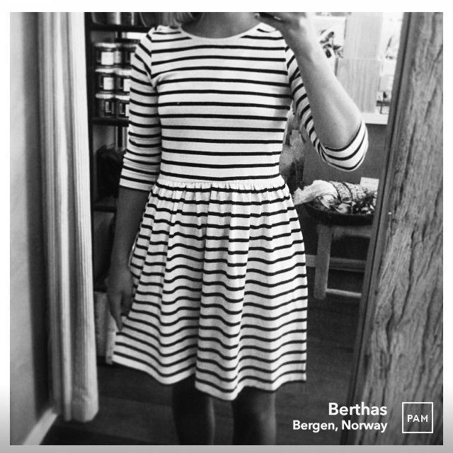 Simple and timeless dress in Ganni's iconic stripes @ Berthas. #ganni #oldspice #jerseydress #thisseason #skirtpleats #chunkysoft #softcotton #classic #danishlabel #womensfashion #bertha_ #womenswear #hybridshopping #bergen #norway