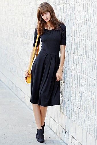 Women's Dresses - Next Navy Jersey Midi Dress - EziBuy Australia