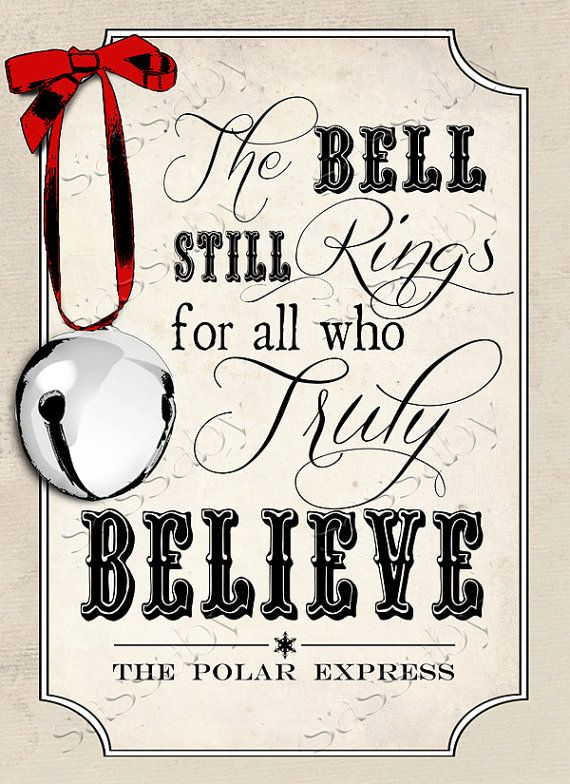 Polar Express Believe Poster INSTANT DOWNLOAD by Sassaby on Etsy