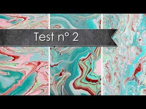 Test Acrylic pouring, sans médium, sans silicone..... - YouTube