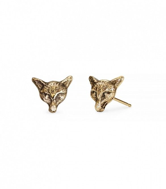 """Our Fox 14K gold stud earrings featured on @WhoWhatWear as one of """"The Only 6 Pieces You Ever Really Need to Invest In"""" #giftyourself"""