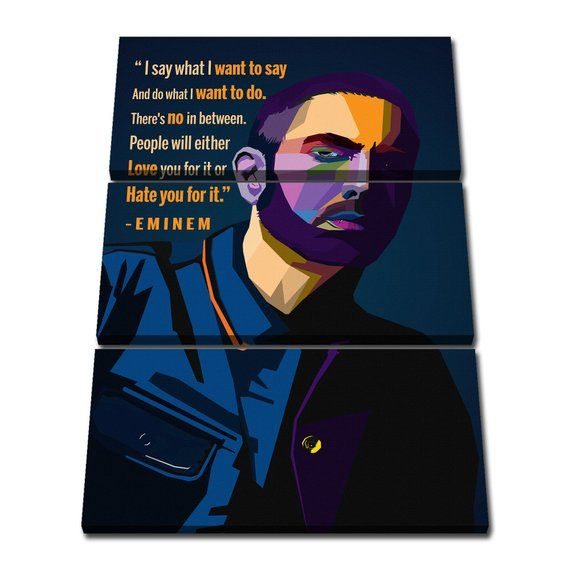 Eminem Quotes Canvas Giclee Print Painting Picture Wall Art Etsy Canvas Giclee Pictures To Paint Etsy Wall Art