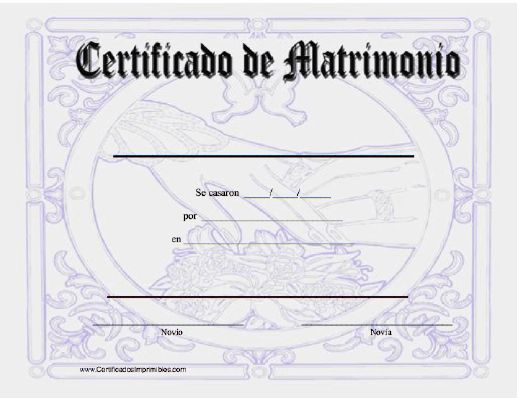 Actas De Matrimonio Para Kermes