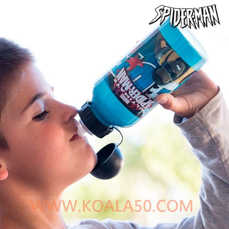 Bidón de Aluminio Infantil Spiderman - 2,63 €  ¡Los más pequeños de la casa alucinarán conel bidón de aluminio infantil Spiderman!Capacidad: 500 ml. Medidas aprox. (diámetro x altura): 7 x 18,5...  http://www.koala50.com/menaje-infantil/bidon-de-aluminio-infantil-spiderman