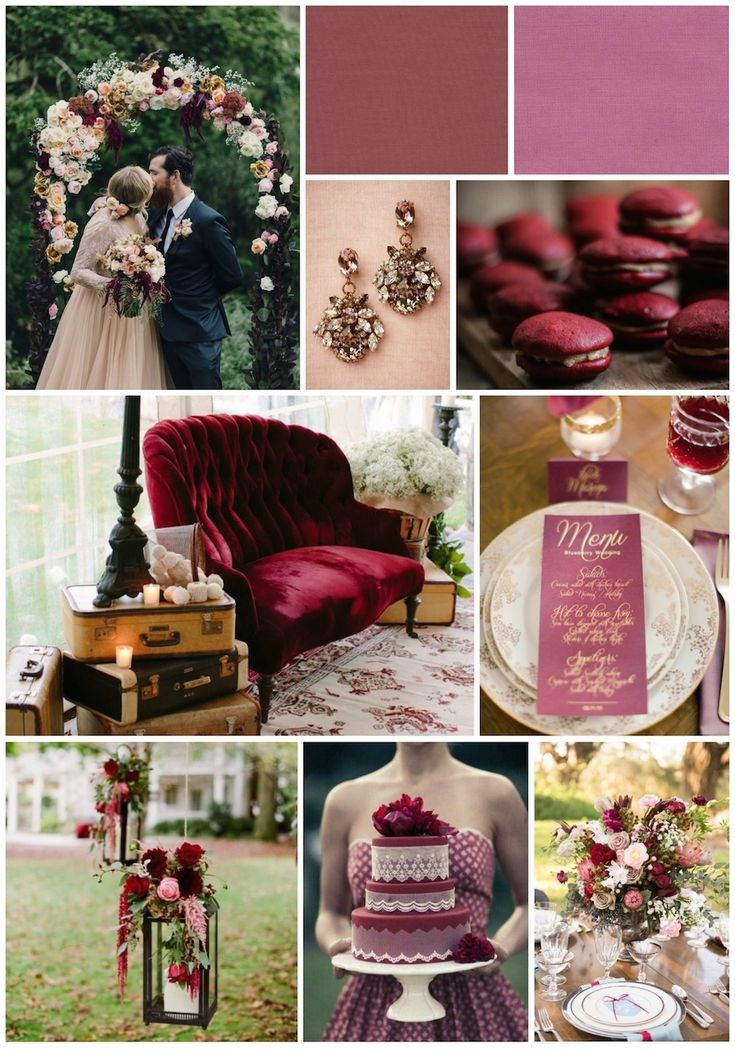 3 Gorgeous Wedding Palettes from Pantone's Fall 2015 Color Report. Inspiration photos gathered from Pinterest.