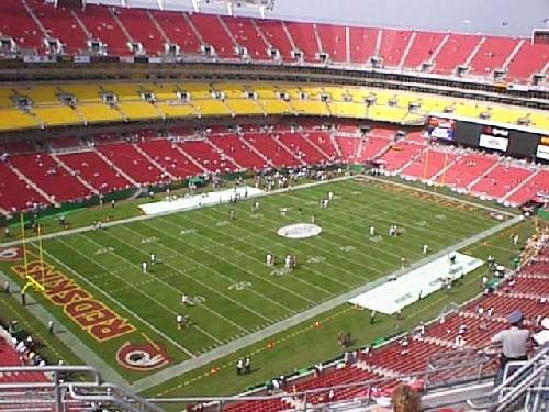 Fed Ex Field, home of the Redskins