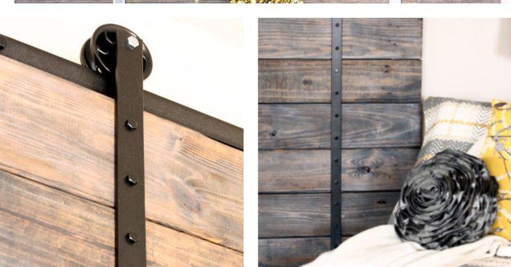 We built this custom barn door completely from scratch using pallet wood and old scooter wheels! Come on over to our blog to see more barn doors, the DIY and al…