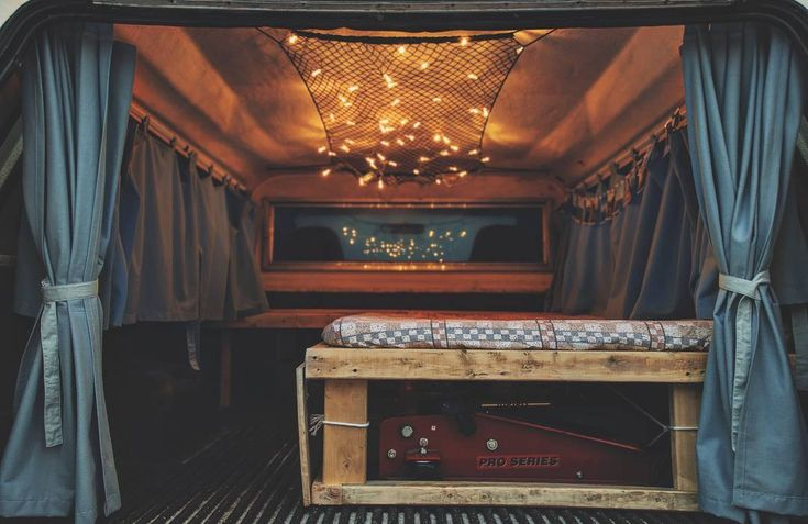 Campervan  fabric ceiling & full wall curtains... sleeping under the stars
