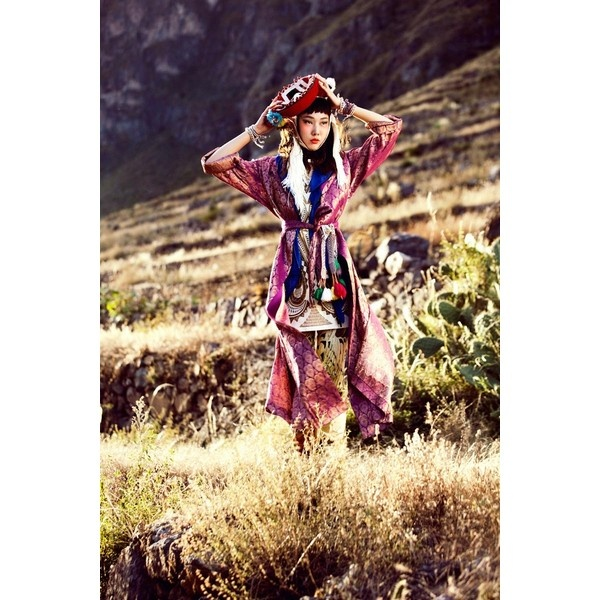 Han Hye Jin Embraces the Colors of Peru in Vogue Korea's July Issue by... ❤ liked on Polyvore