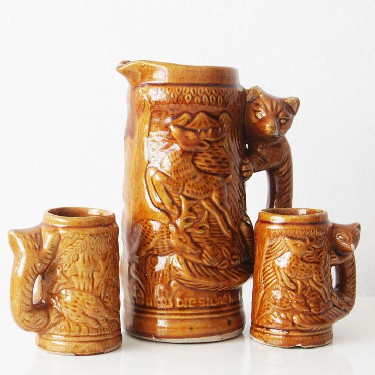 70 yıllık antika sürahi takımı
