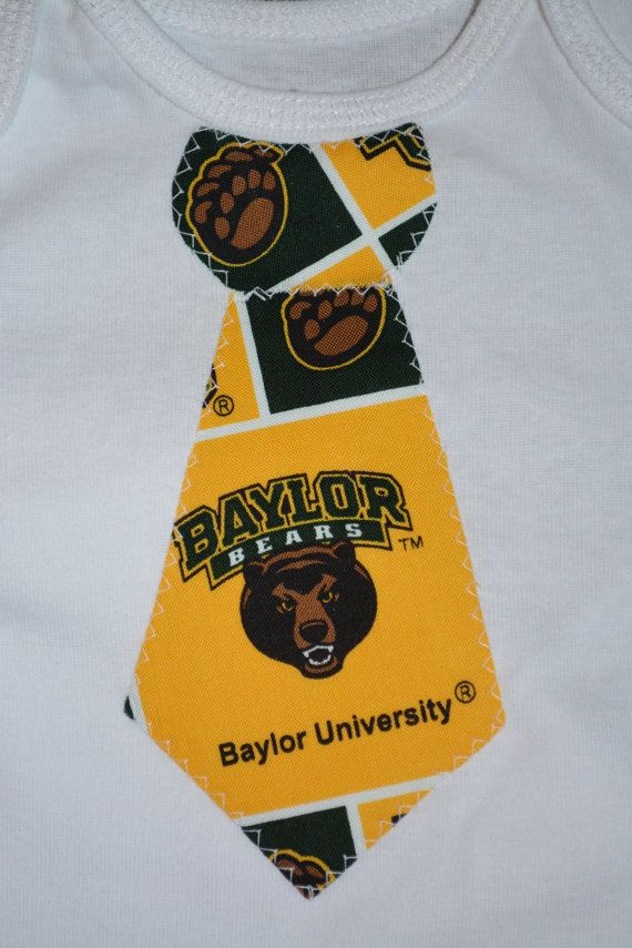 Baylor Bears baby tie bodysuit // Too precious. And perfectly practical for when the baby needs to look a little dressed up!