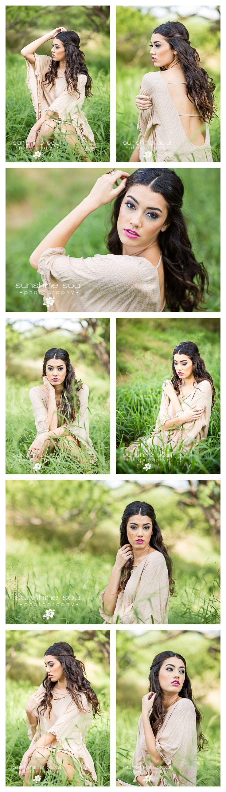 Senior Portrait Hair and Makeup Inspiration - BOHO Styled Shoot (Okinawa Senior Portrait Photographer Jennifer Buchanan - Sunshine Soul Photography)