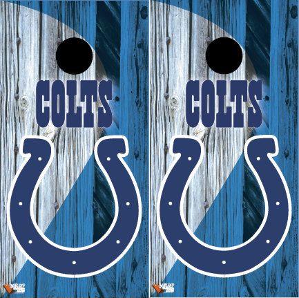 NFL Colts Cornhole Board Wraps by Wrapitandslapit on Etsy
