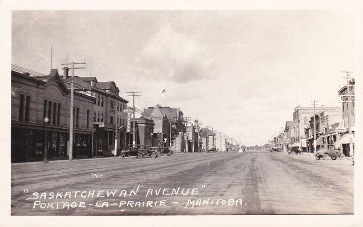 RP: Saskatchewan Ave, PORTAGE-LA-PRAIRIE , Manitoba , Canada , 1910-20s