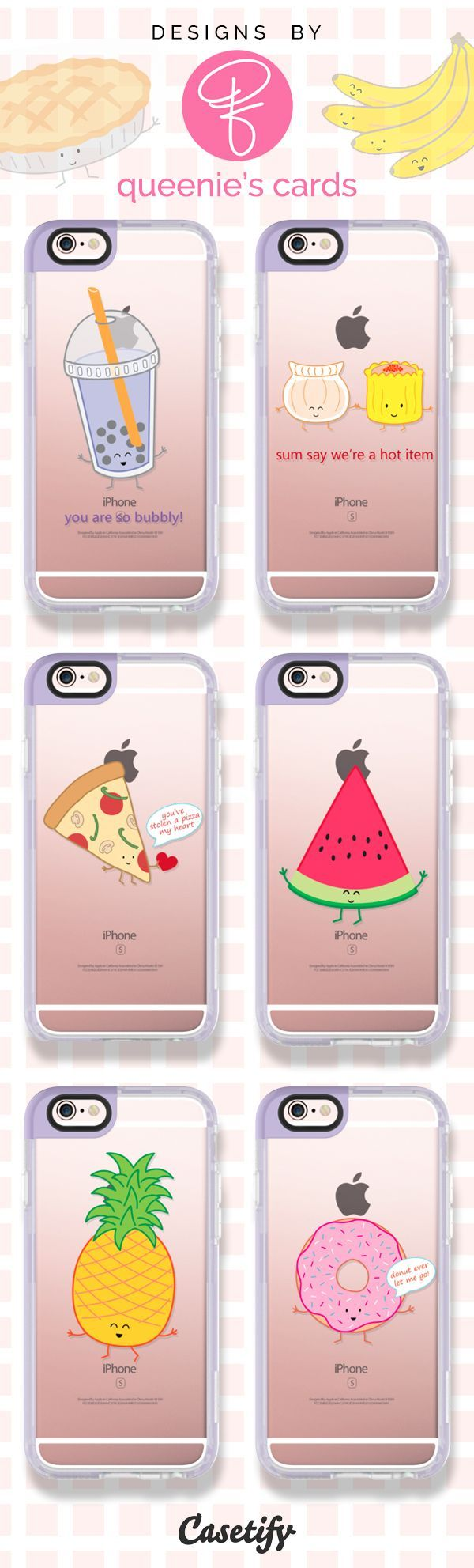 Good Food = Good Mood. Shop these adorable food phone cases designed by @queeniescards here >>> https://www.casetify.com/queeniescards/collection   @casetify