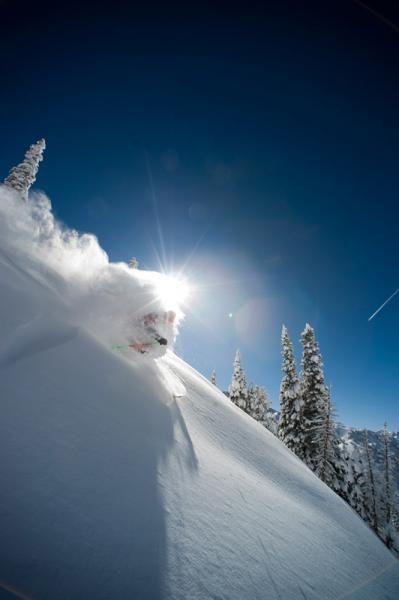Craig DiPietro skis Alta, Utah by Lee Cohen