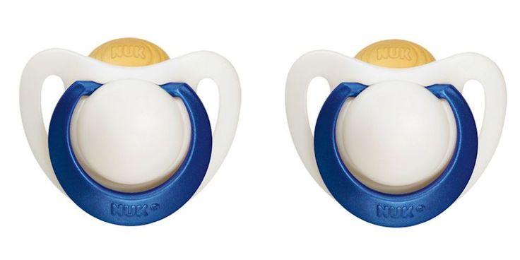 Special NUK Pacifier Deals - 2x NUK Genius Pacifier Soother 0-6 Months Babies Natural Latex BPA Free (0453-1) #NUK