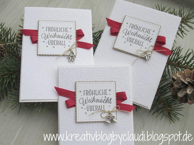Kreativ Blog by Claudi: Fröhliche Weihnacht überall