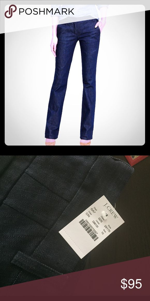 """J Crew Trouser jeans J crew trouser jeans. City fit. 33"""" inseam. Fitted through hip and thigh, with a straight trouser leg. J. Crew Jeans Straight Leg"""