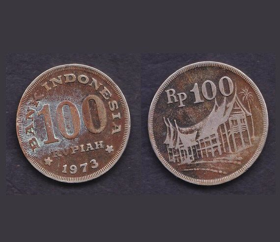 60 Cents Only 1973 Indonesia 100 Rupiah Coin Trash by Freecyclelk