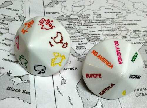 """KOPLOW'S BRAND NEW """"SEVEN CONTINENTS"""" D14 (14-SIDED) DIE - FUN TEACHING AID!"""