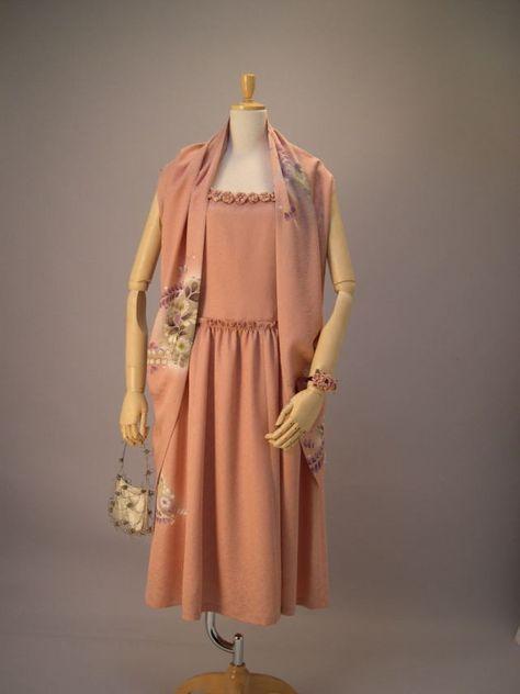 さくら工房 絹(kimono-fuku)服 辻が花 附下 ドレス。