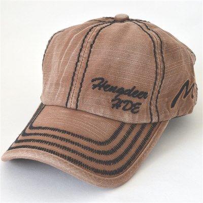 Hengdeer Erkek Yıkamalı Spor Şapka Somon