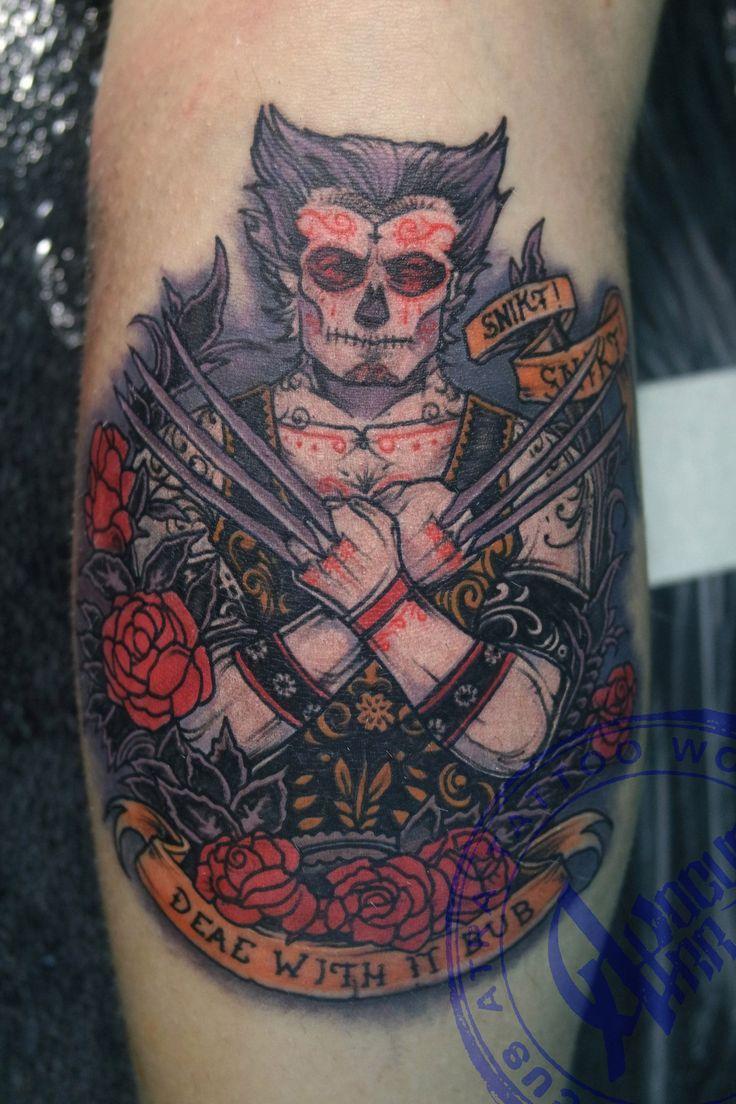 Тату_Locus Atra _татуировка_в Самаре Wolverine tattoo art russian style L.A.W. tattoo
