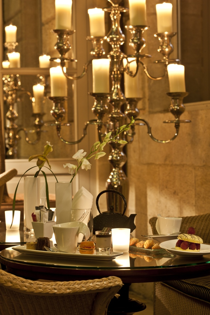 The Orangerie is open every afternoon for a tea-time break. Discover a selection of delicacies created by our Pastry Chef, and our List of teas and coffees from around the world.  http://www.ghbordeaux.com/uk/#orangerie.php