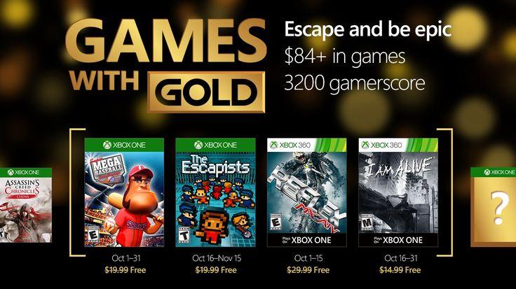 Juegos con Gold Xbox One y Xbox 360 | Octubre 2016