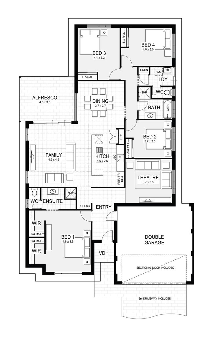 Simple house floor plan floor plans pinterest house floor plans