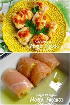 Cozinha rápida APRESENTA Rolinhos de Filé de Frango Pode imaginar um filé de frango, deliciosamente temperado com queijo crocante por cima, feito no forno no forno super rápido? Esse é o nosso franguinho de hoje, simplesmente irresistível