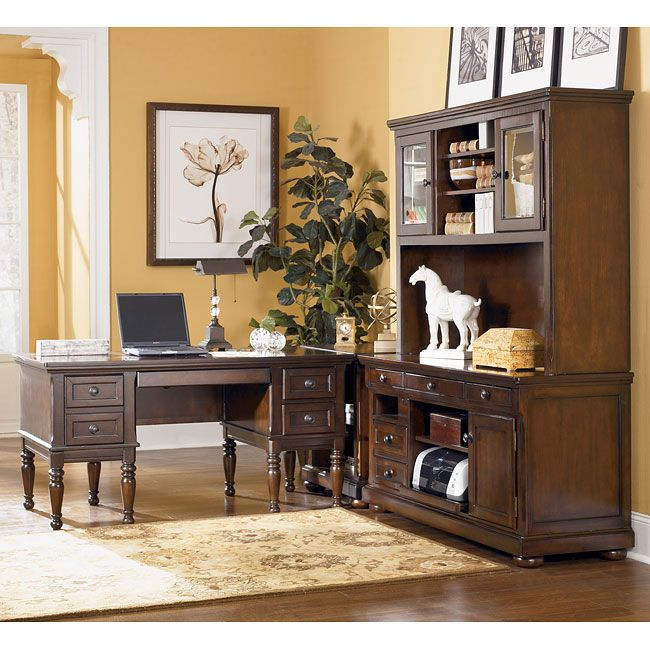 The Warm Rustic Beauty Of Porter Home Office Collection By Signature Design Ashley Furniture