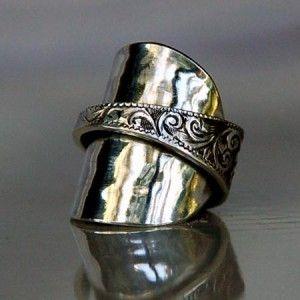 cute silver spoon ring