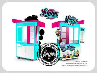 Desain Logo | Logo Kuliner |  Desain Gerobak | Jasa Desain dan Produksi Gerobak | Branding: Desain Gerobak Loopy Bubble Drink