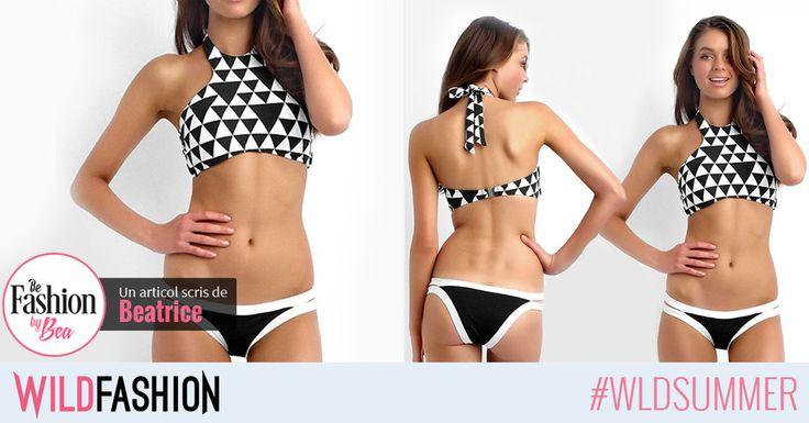 Un costum de baie cu print-uri grafice este un plus pentru aparitia ta la plaja si ar trebui sa fie pe lista ta de shopping vara aceasta: