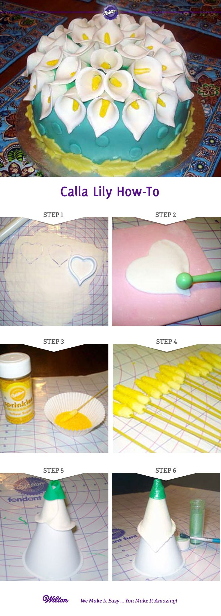 Lily Nail Cake Decorating : Best 25+ Calla lily cake ideas on Pinterest
