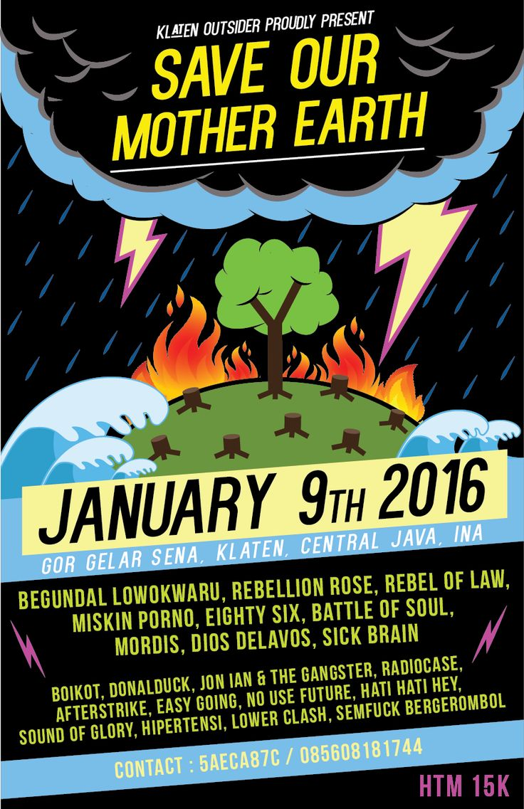SAVE OUR MOTHER EARTH | poster | gigs