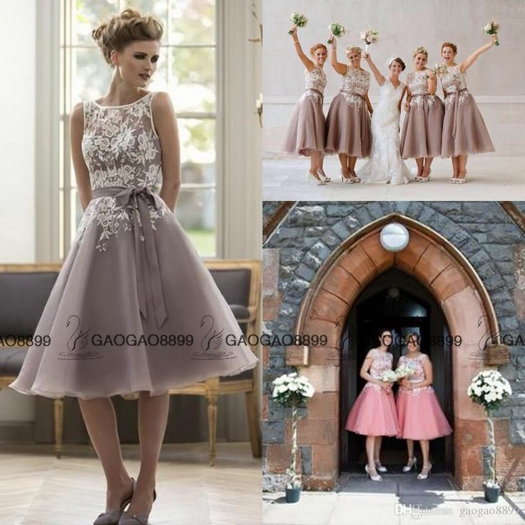 True Bride Victoria Vintage Lavender Tea Length Bridesmaid Dresses Lace Organza A Line Short Maid Of Honor Wedding Party Guest Dress Affordable Bridesmaids Dresses African Bridesmaid Dresses From Gaogao8899, $70.56| Dhgate.Com