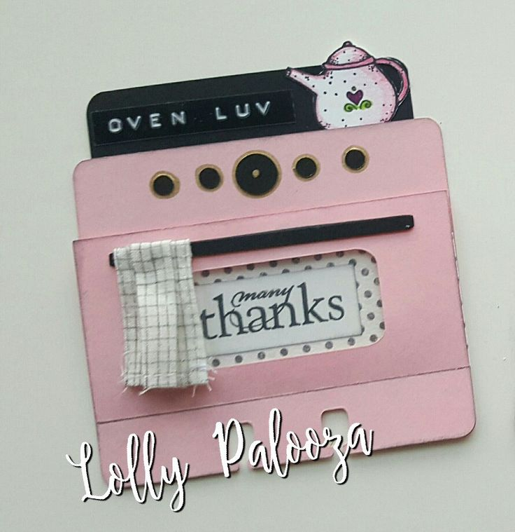 Oven card by Lolly #rolodex #memorydex #lollyfiles