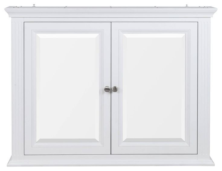 Edison Mirror Cabinet W 2 Doors White In 2020 Mirror Cabinets Wall Mounted Medicine Cabinet Bathroom Decor