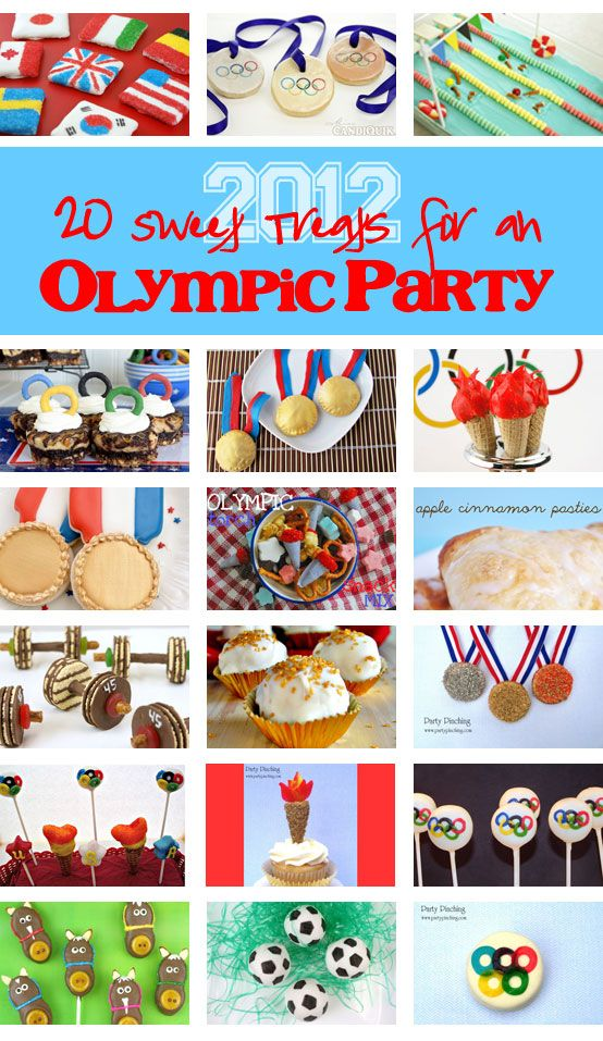 20 Sweet Treats for an Olympic Party! 2012 London Olympics party roundup. #olympics #olympic desserts