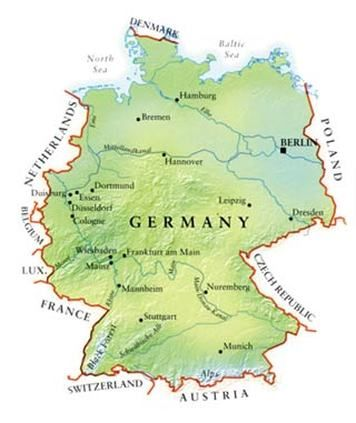 Best Maps Of Germany Images On Pinterest Germany Maps And - Germany map geographical
