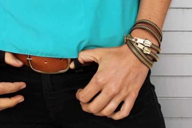 Easy with #reclaimed zippers! #diy #jewelry