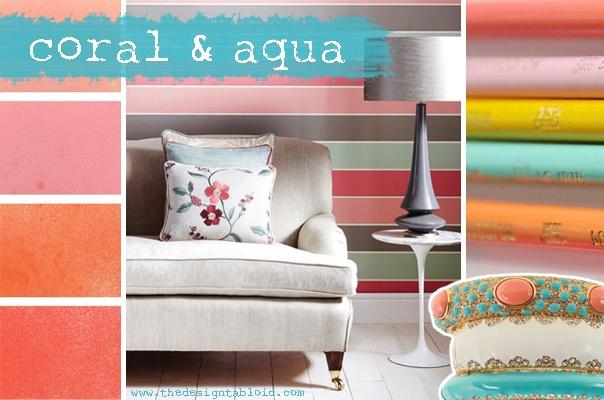 Colors - coral & aquas