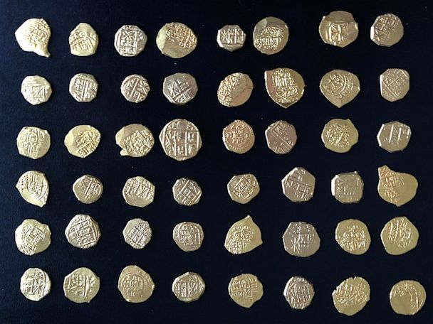 Treasure hunters recently found these 48 rare gold coins in a shipwreck off the coast of Florida. #MeritGold #Treasure
