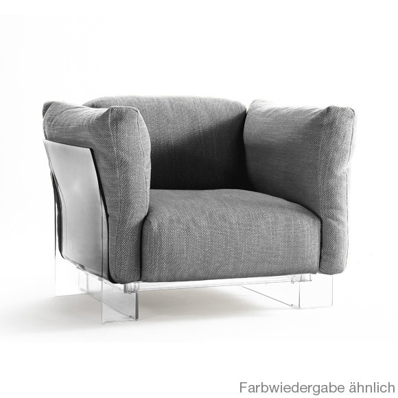 Broyhill Sofa Grey Transparent Frame Kartell Pop Duo