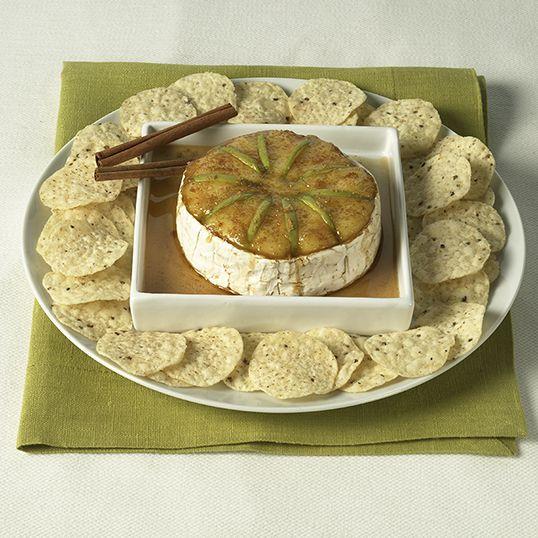 Brie au sirop d'érable, cuit au four