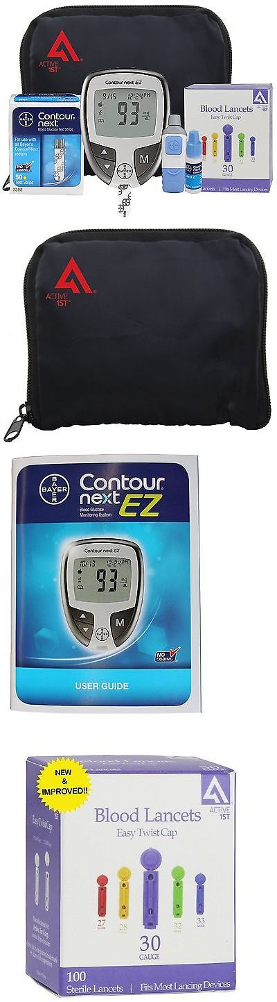 Glucose Monitors: Diabetes Testing Kit (Bayer Contour Next Ez Meter + 50 Bayer Contour Next Tes... BUY IT NOW ONLY: $40.6
