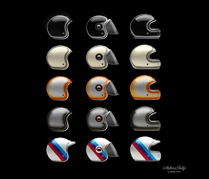 The new limited and numeroted edition #LesAteliersRuby helmets for #BMW Motorad